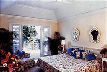 One of the bedrooms at Pharos Villa