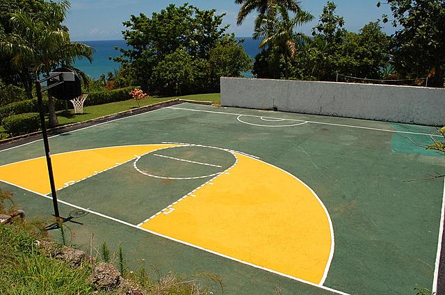 Half Basketball Court: 50' X 57'