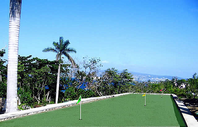 20' X 130' putting green: 9 holes, balls and putters provided or bring your own