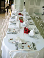 Table setting at Pharos Villa